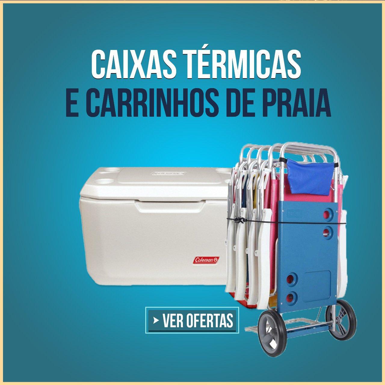 CAIXAS TERMICAS E CARRINHOS DE PRAIA
