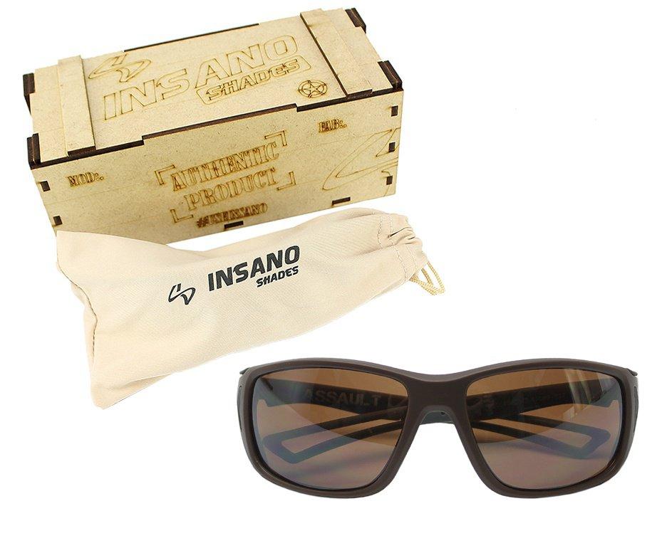 Óculos Balistico com Armação Marrom - Lente  Marrom - Insano Shades