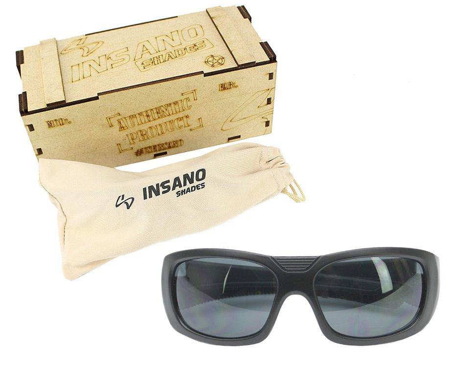Óculos Balistico com Armação 20534-C123 Preto Fosco - Lente Prata - Insano Shades