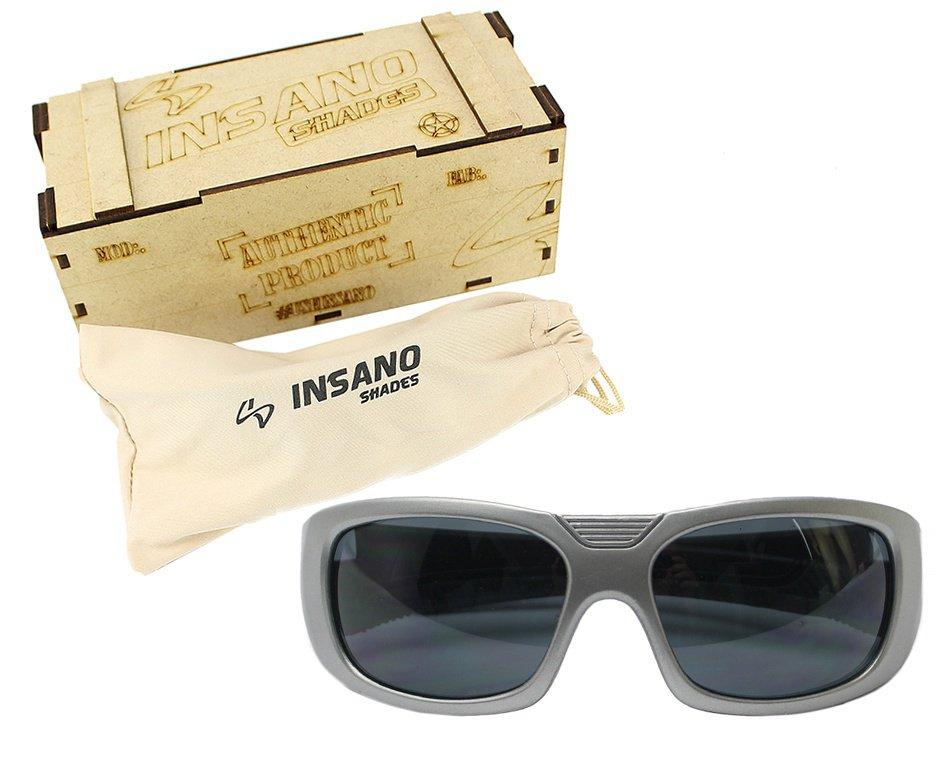 Óculos Balistico com Armação  20534-C678  Prata - Lente Prata - Insano Shades