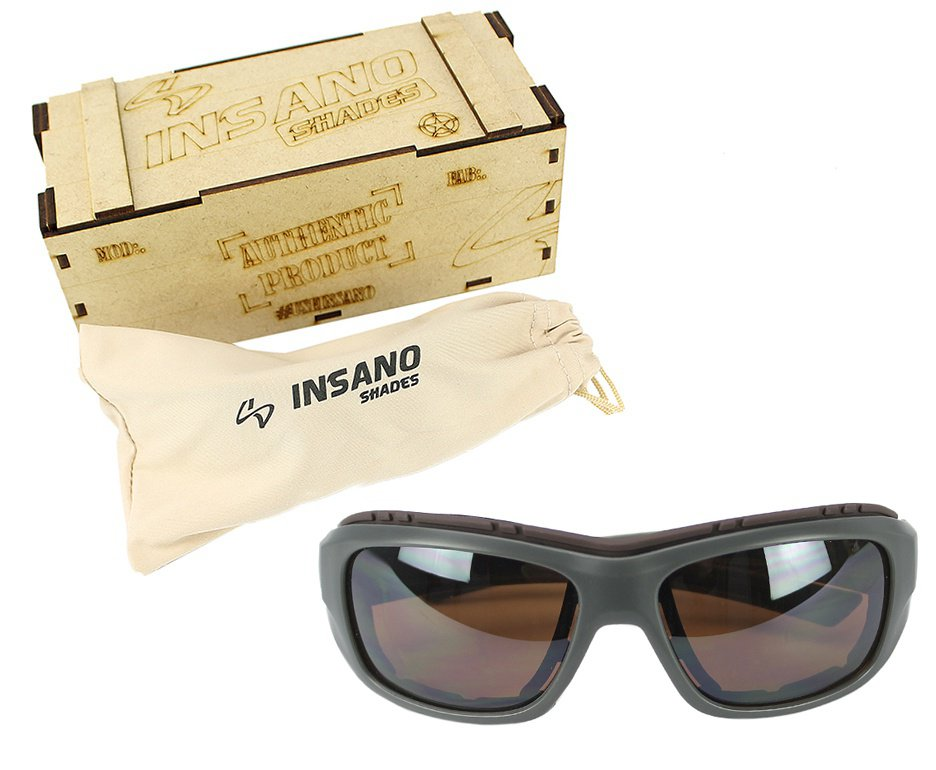 Óculos Balístico com Armação 20537 - C789 Grafite - Lente Marrom  - Insano Shades