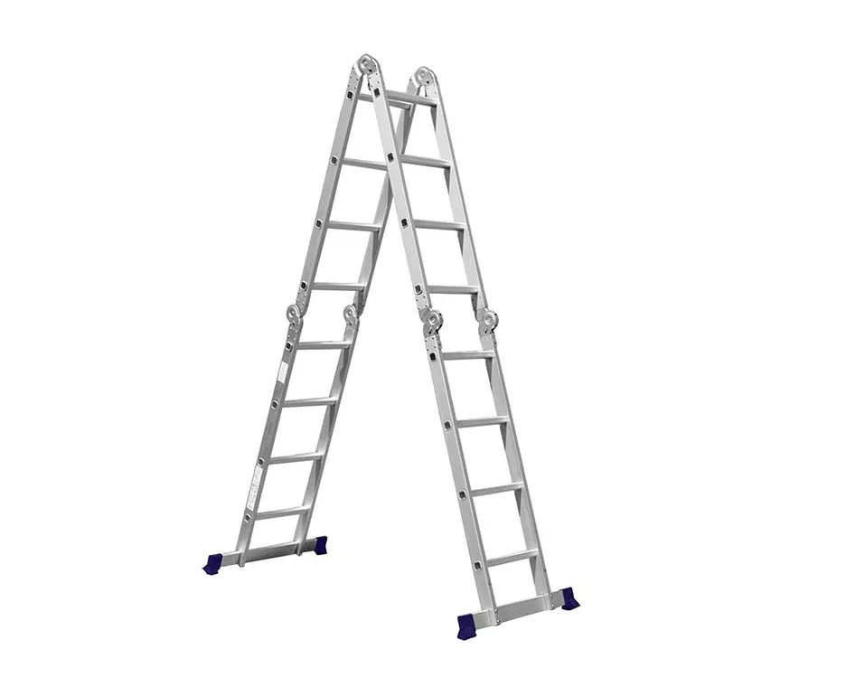 Escada Multifuncional Com Plataforma 4x4 16 Degraus