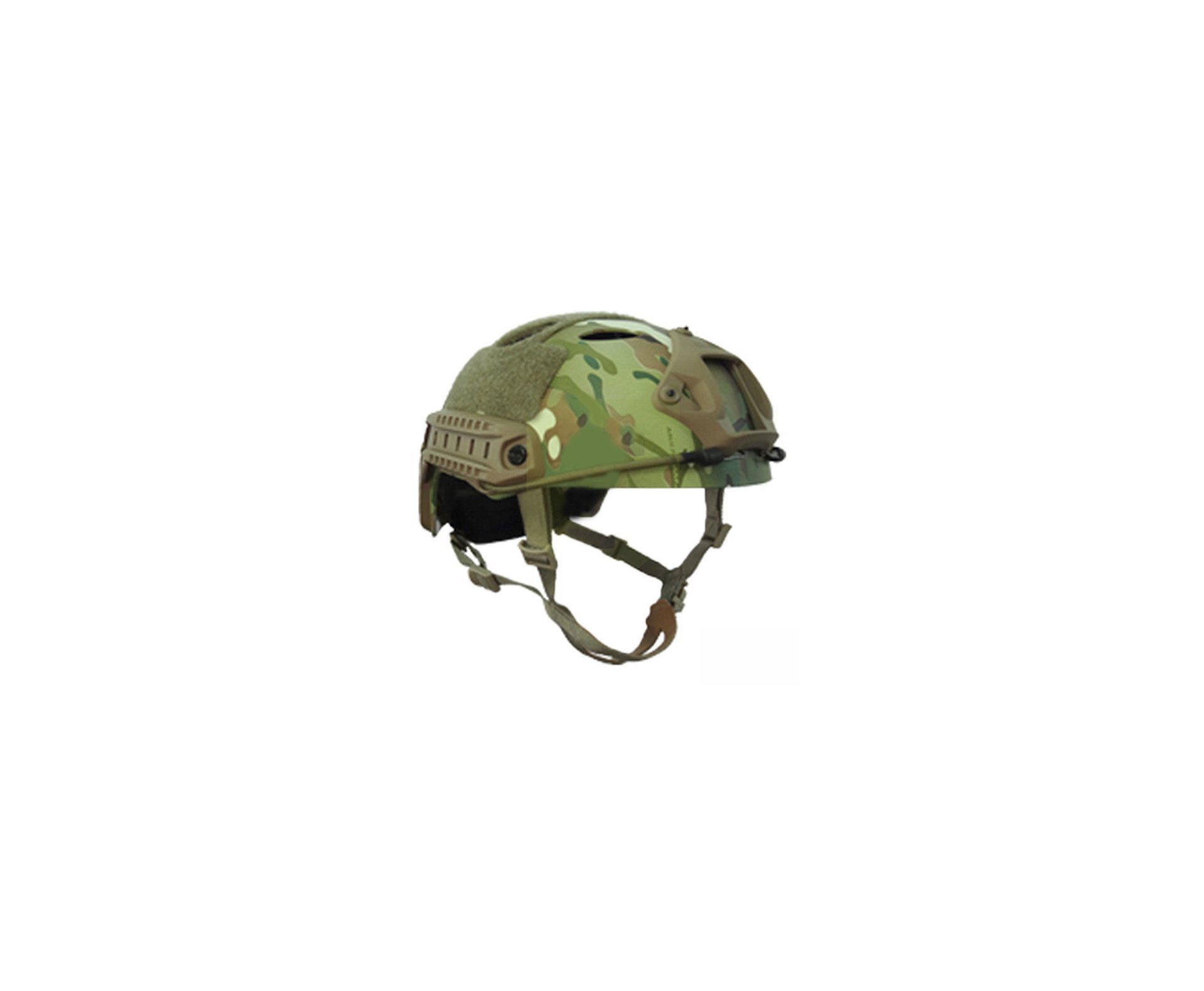 Capacete Tático Para Airsoft/paintball Mod Fast-p1 Multican