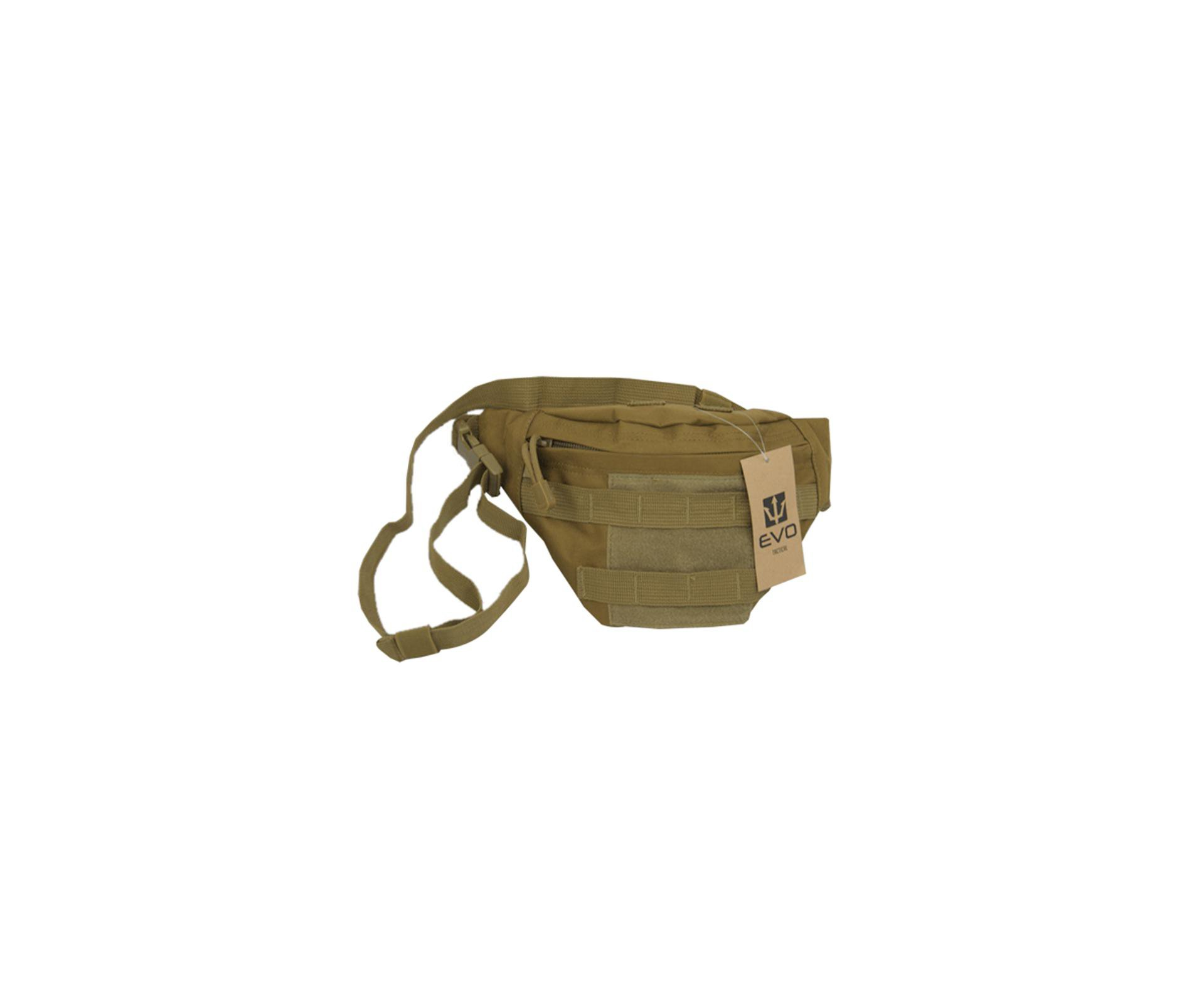 Bolsa Pochete Tática Waist Bag Po-018 Tan - Evo Tactical