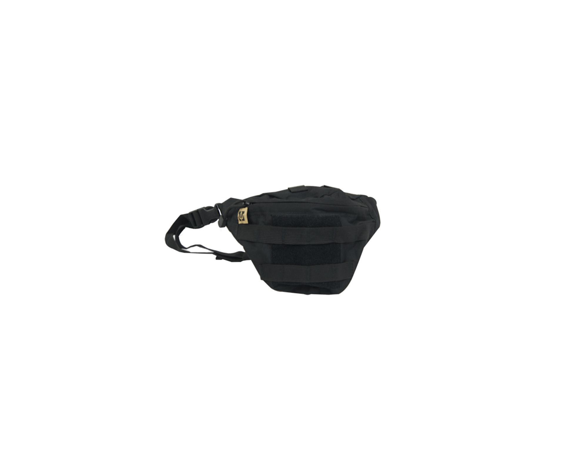 Bolsa Pochete Tática Waist Bag Po-018 Preta - Evo Tactical