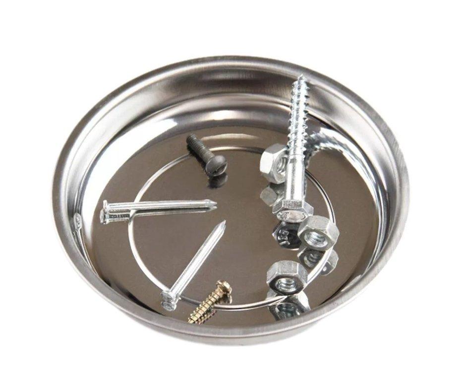 Prato Magnético De Aço Inox 10cm - Lee Tools