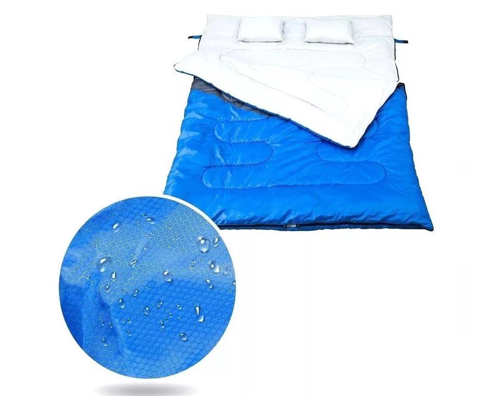 Saco De Dormir -5°c à 5°c Kuple Casal Azul - Nautika