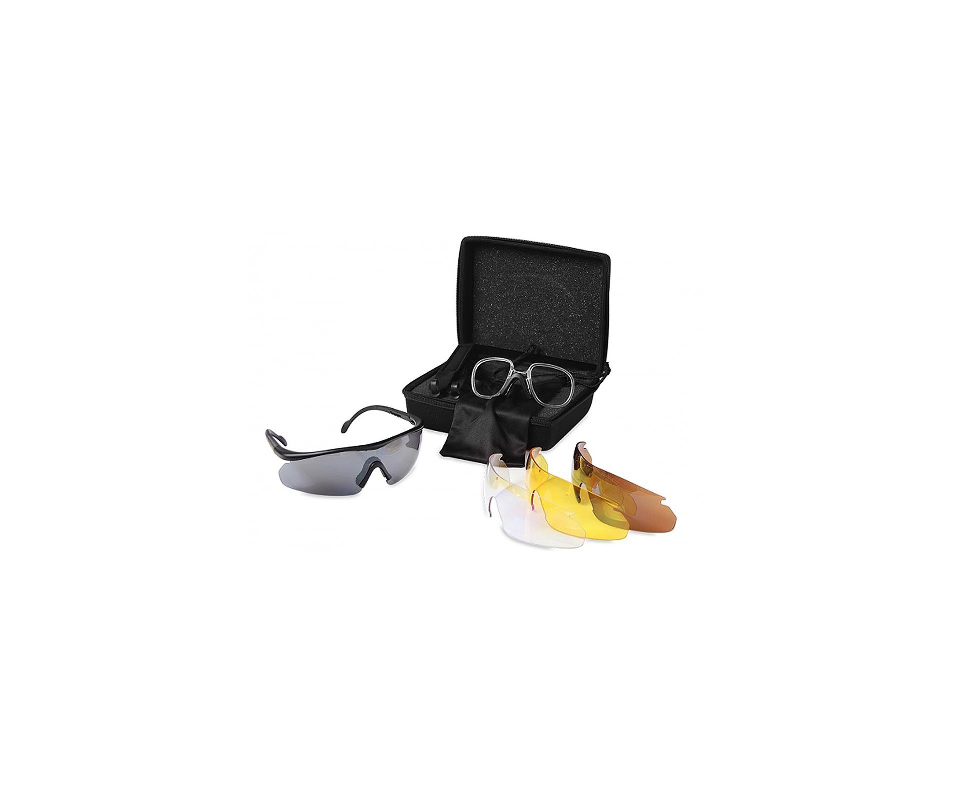 óculos Protetor Tatico Para Tiro Esportivo Lentes Intercambiáveis - Gamo