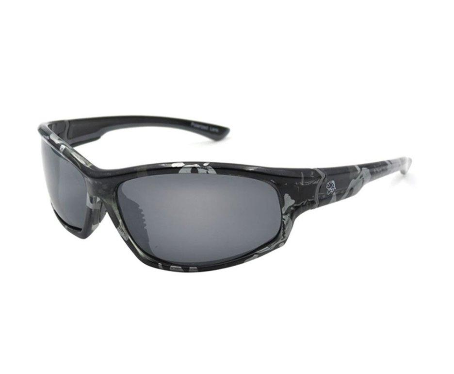 óculos Polarizado Pro Tsuri Sk2 Lente Fumê Armação Preta Com Prata