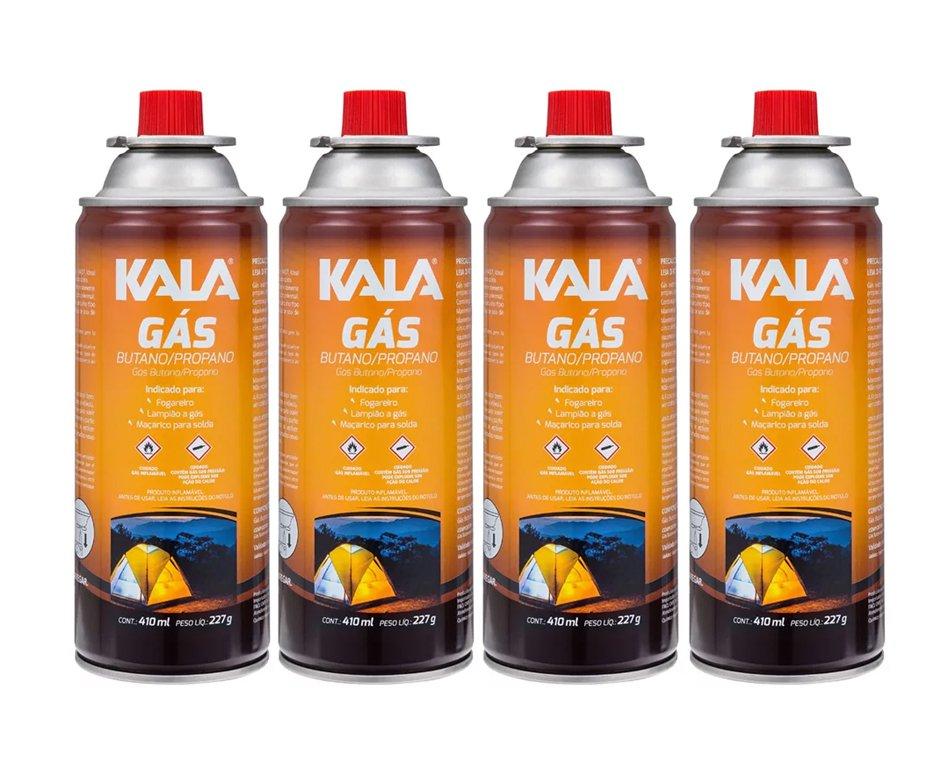 Refil Gas Para Fogareiro Campgas Com 4 Und - Kala