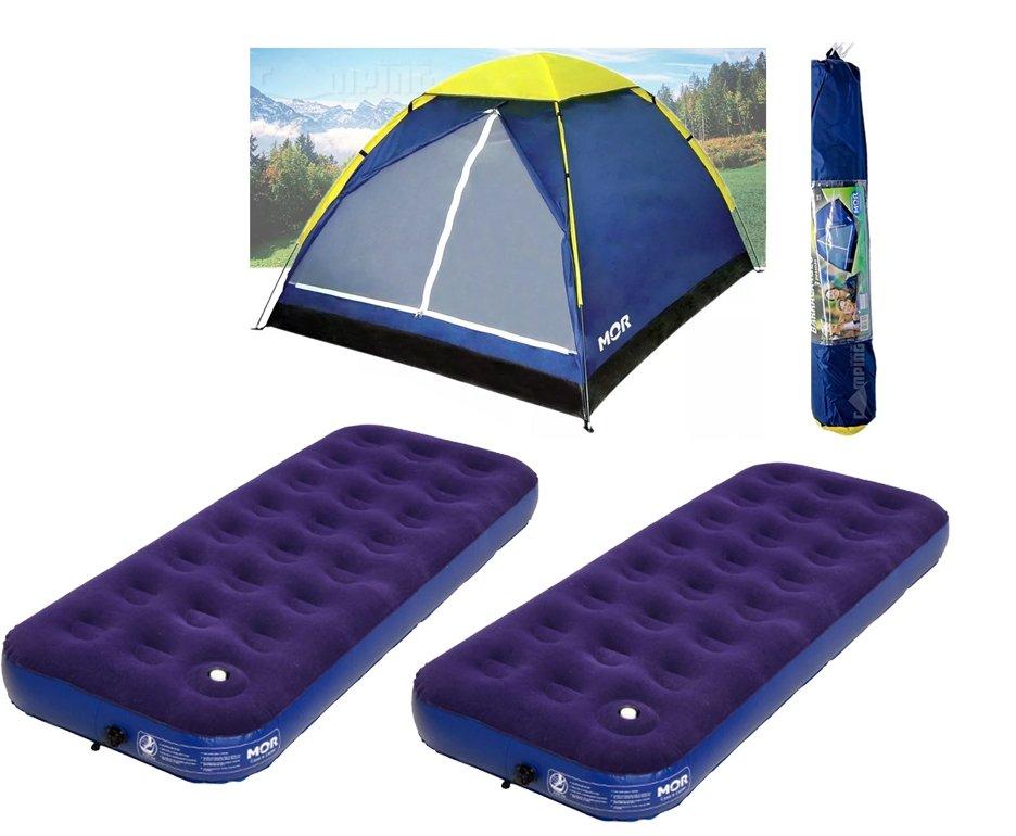 Barraca Camping Iglu 3 Pessoas - Mor + 02 Colchao Solteiro
