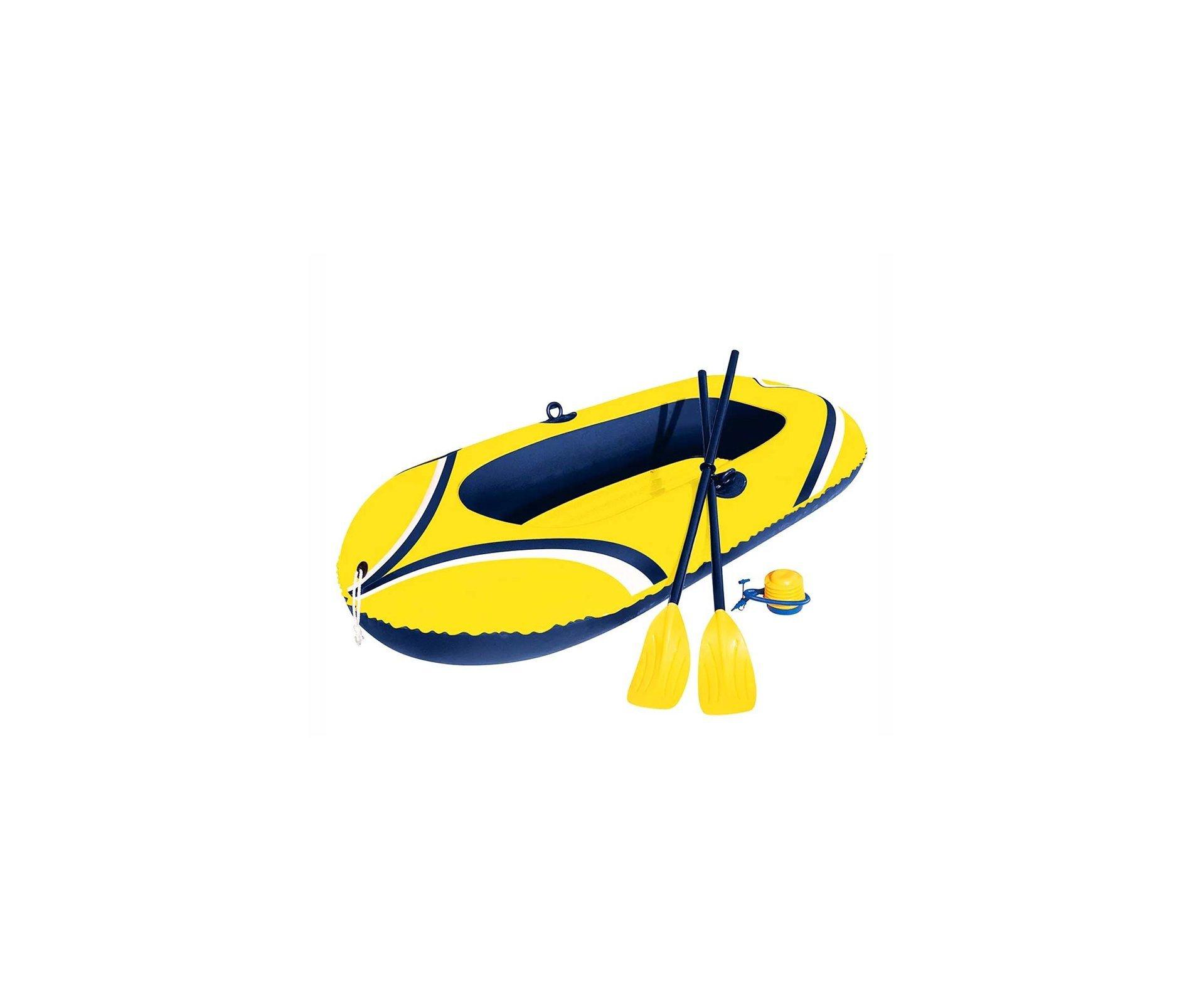 Bote Inflável Para 2 Pessoas Com Remos E Inflador - Mor