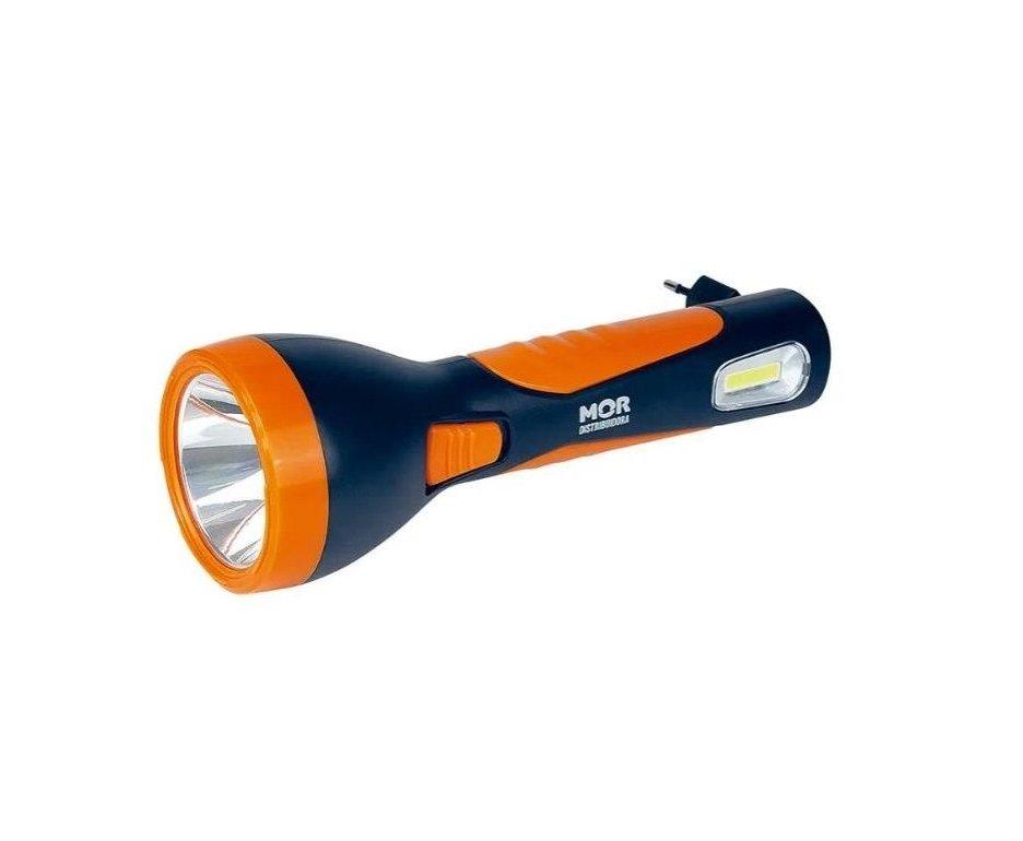 Lanterna De Led Power 150 Lumens Recarregável Laranjada - Mor