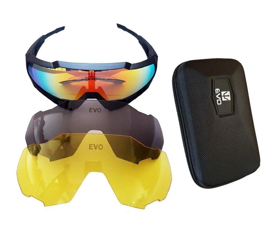 óculos De Proteção Tático Hexa Preto Evo - G111bk