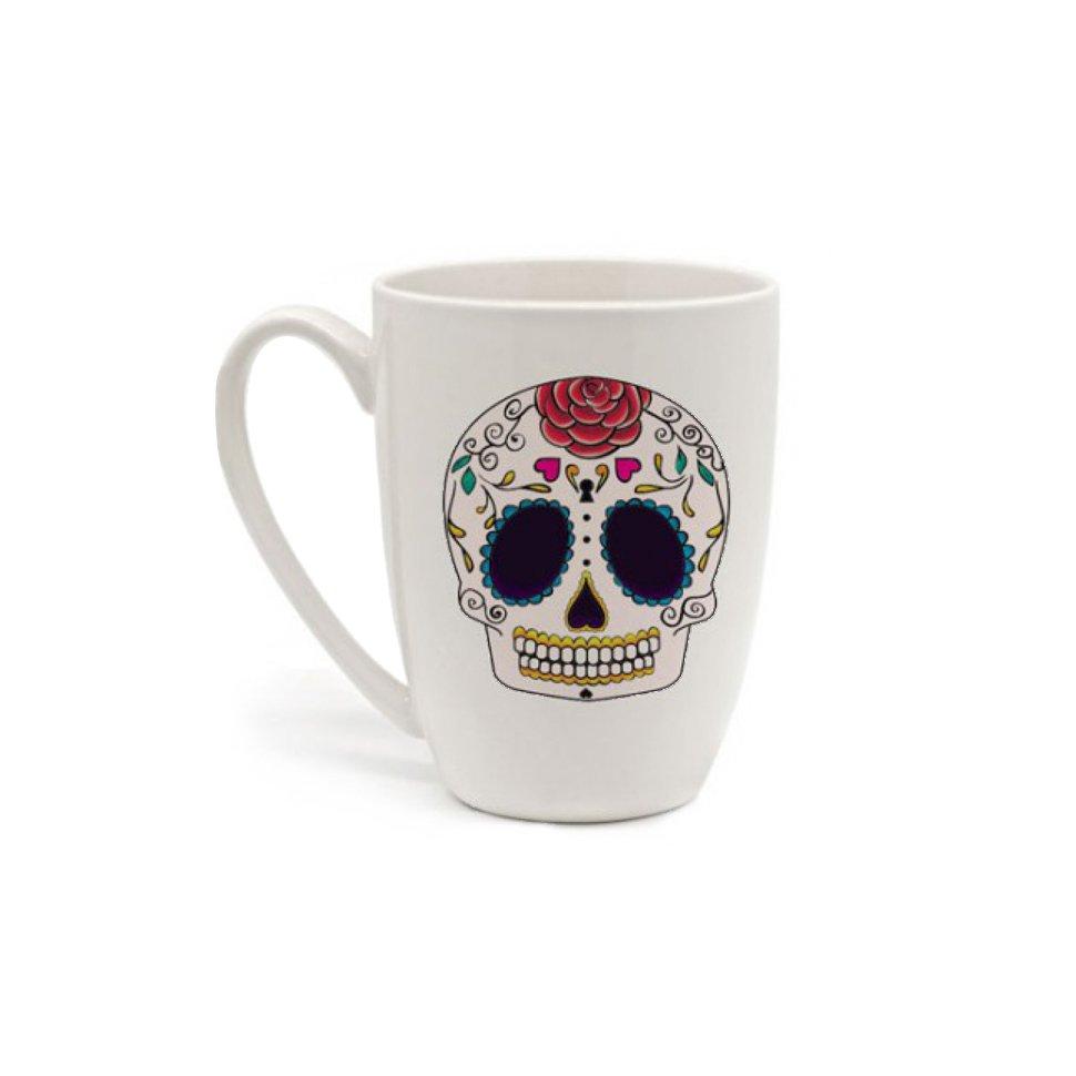 Caneca Em Porcelana - Caveira Mexicana