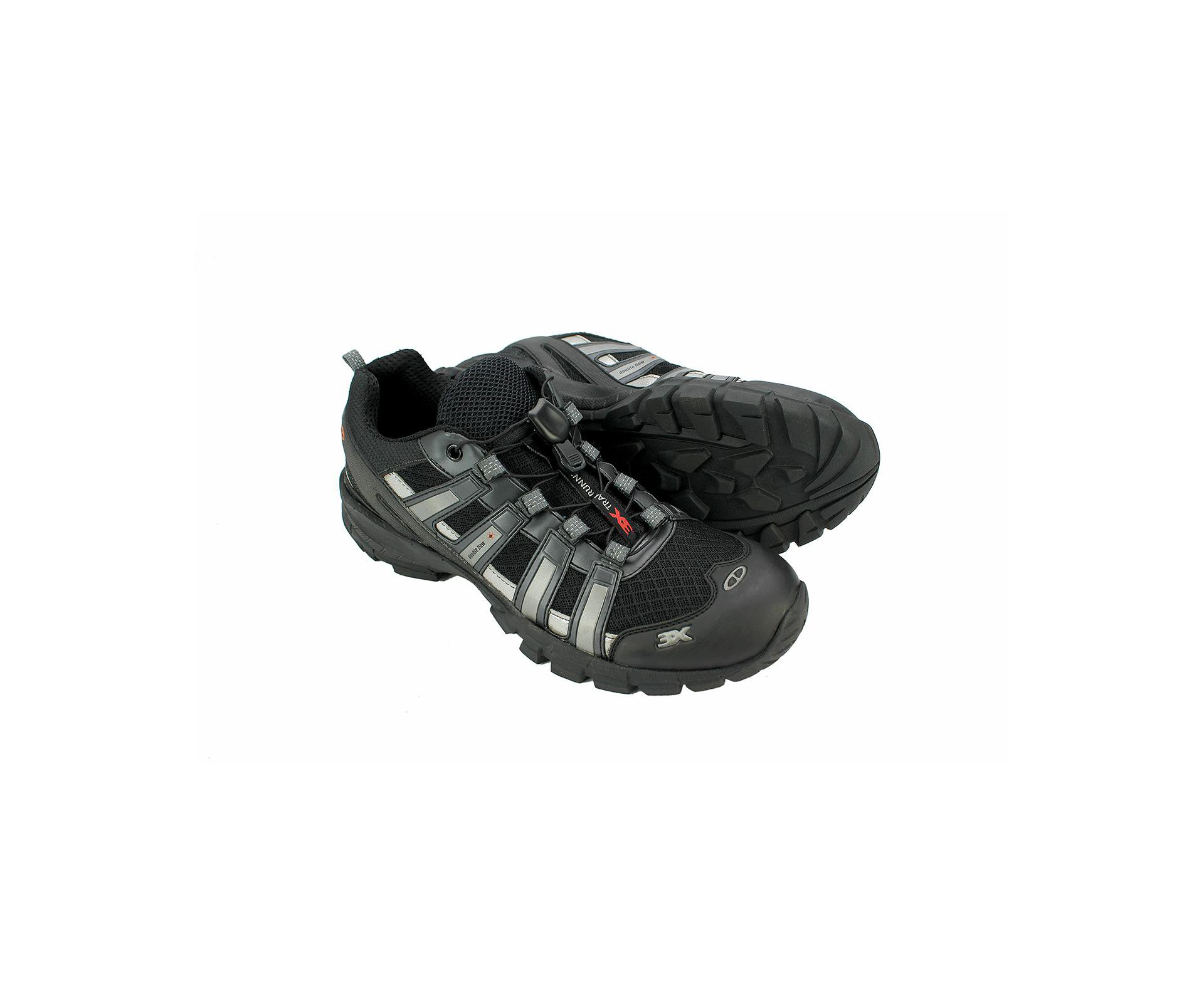 Tenis Double Flow 3x Trail Running Preto - Snake