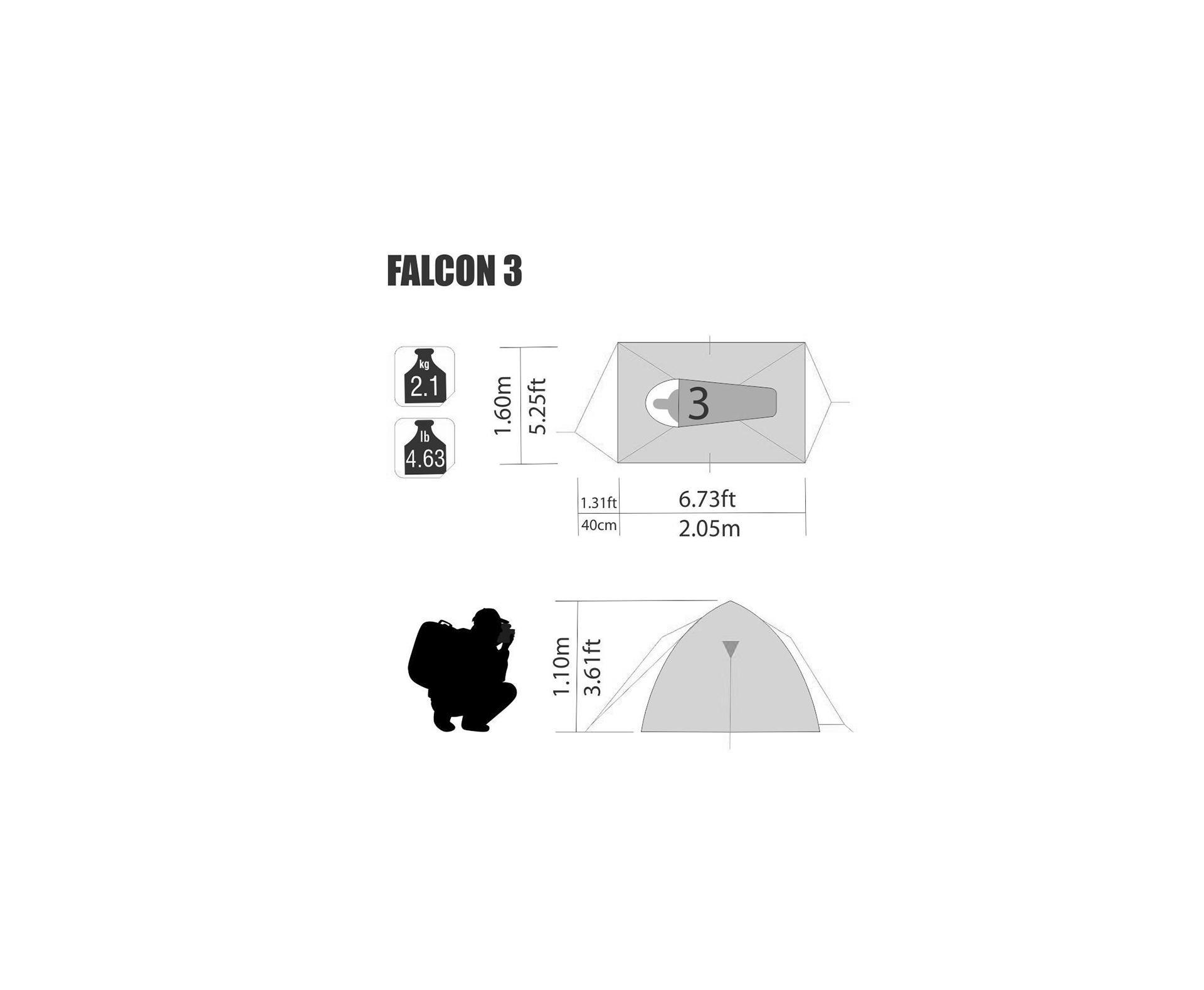 Barraca Iglu Falcon 3 Pessoas Com Sobreteto - Nautika