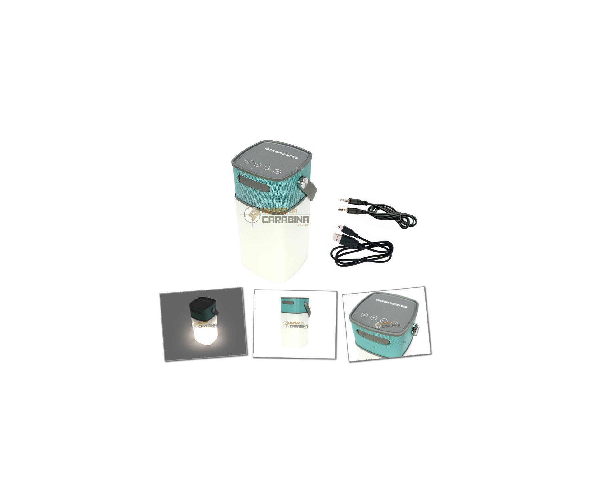 Caixa De Som Bluetooth Portátil Potente + Lâmpada/lampião - Speaker Lamp - Guepardo