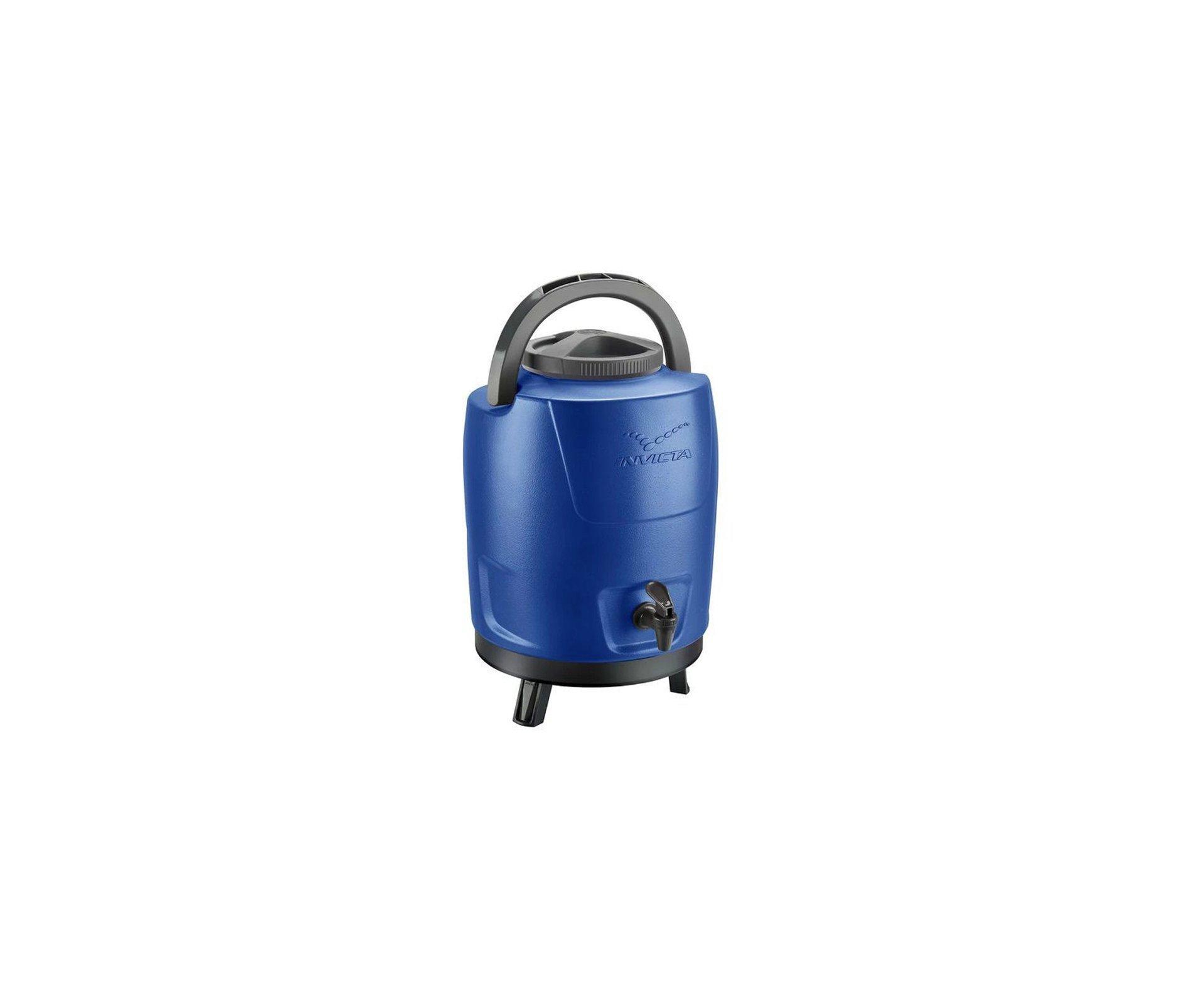 Garrafão/botijão Térmico 9 Litros Com Tripe Azul Royal - Invicta