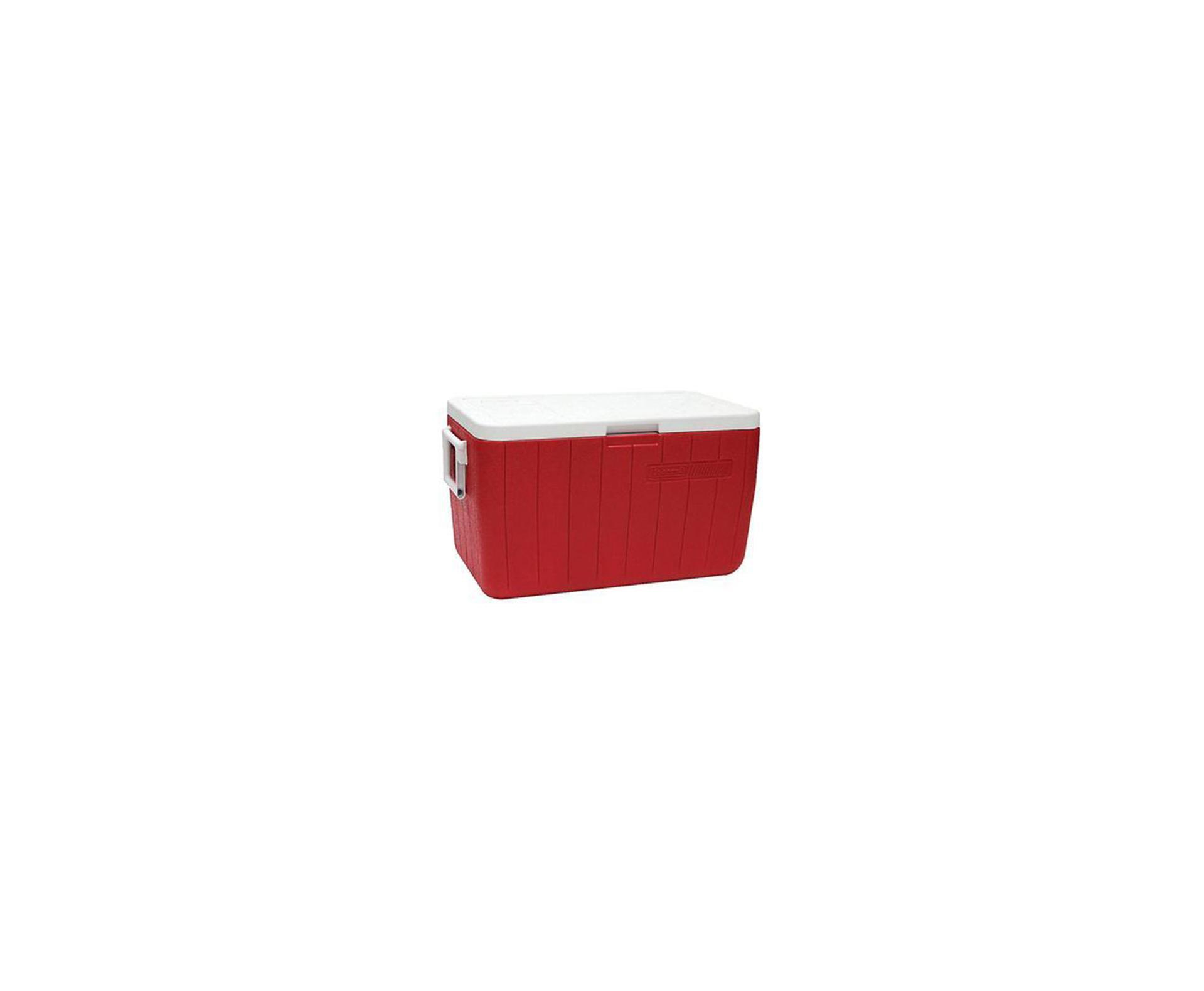 Caixa Térmica 48 Qt (45,4 Lts) - Vermelha - Coleman