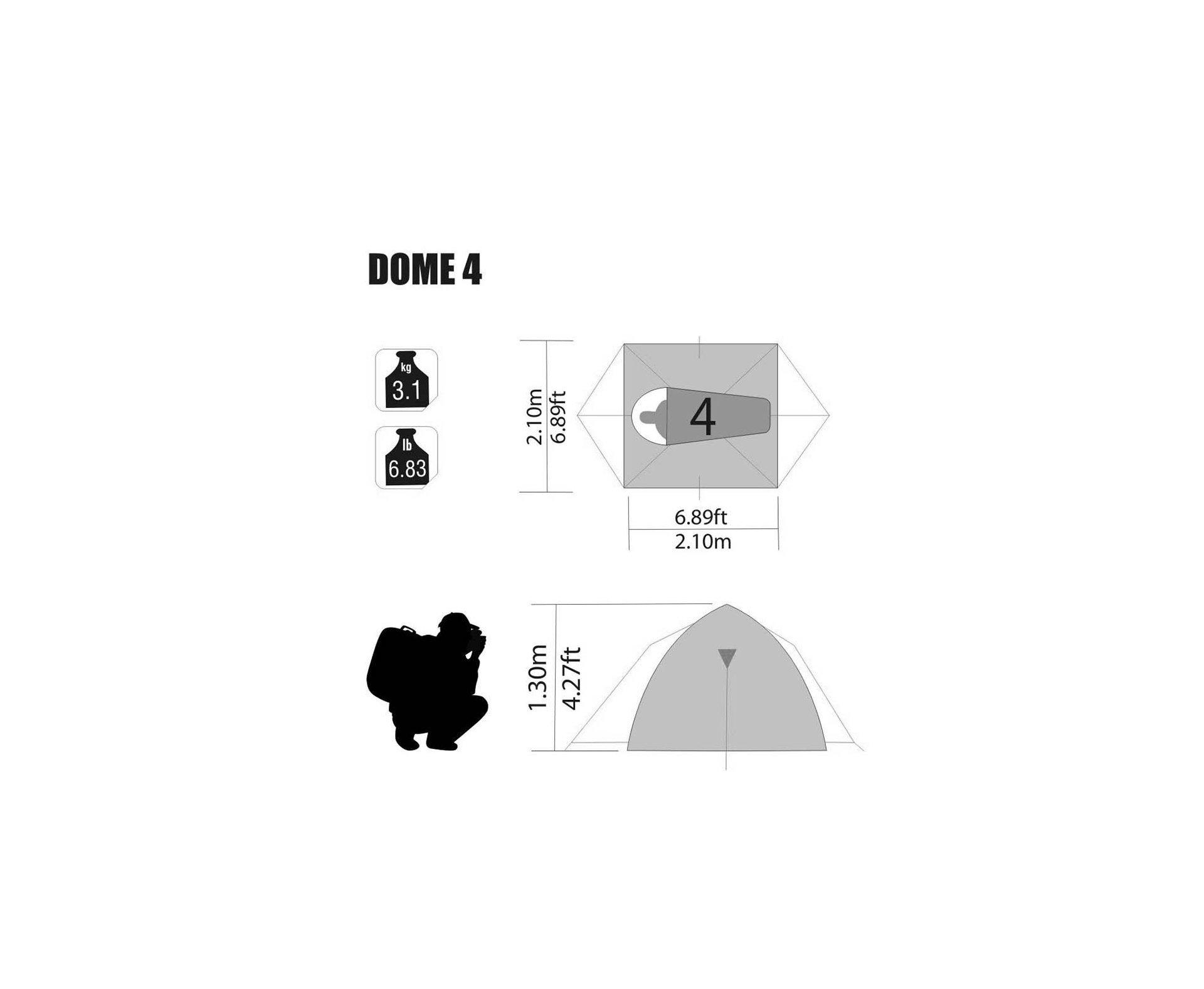 Barraca Dome 4 Pessoas - Nautika