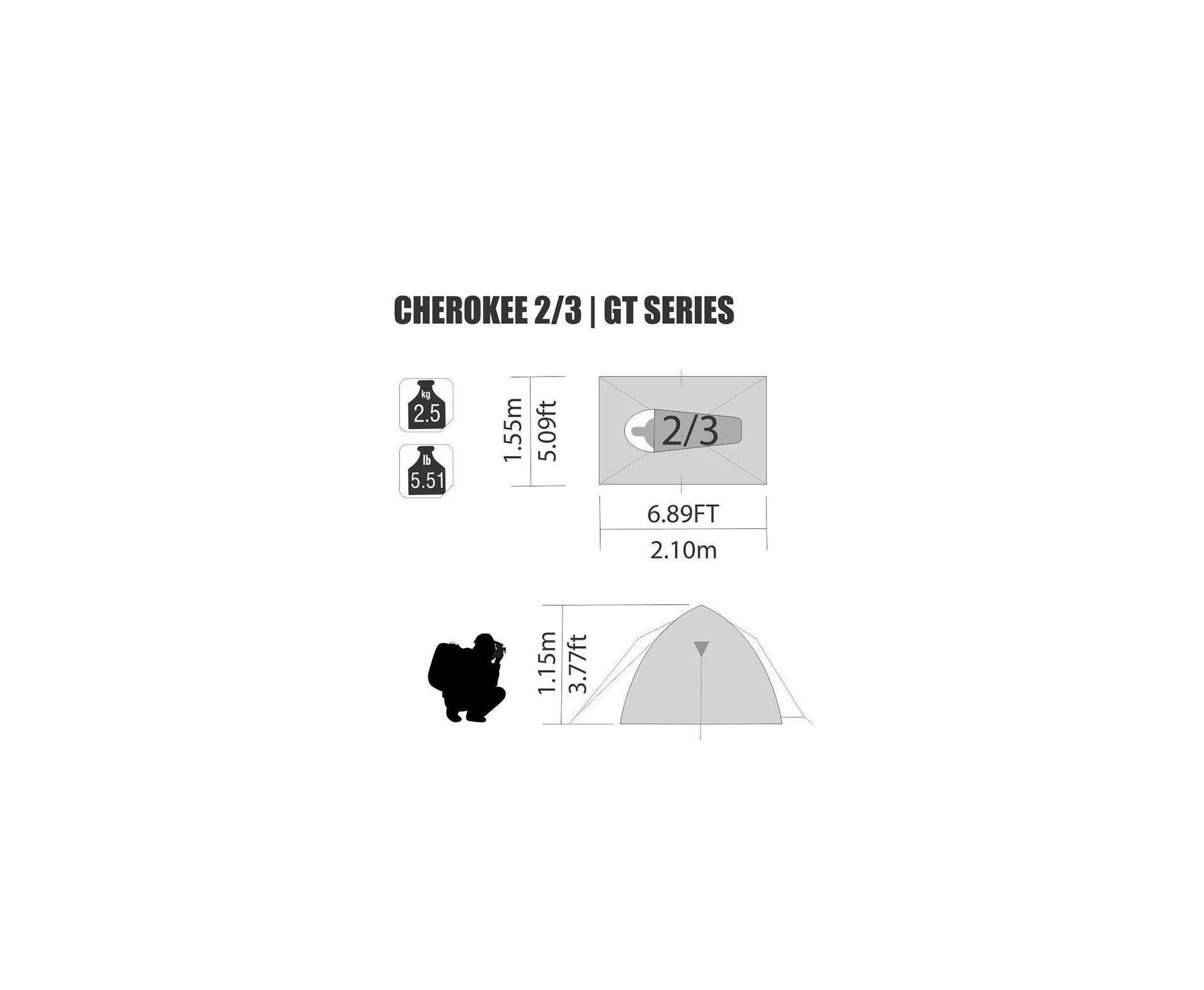 Barraca Cherokee Gt 2/3 Pessoas - Coluna D Agua 2500mm - Nautika