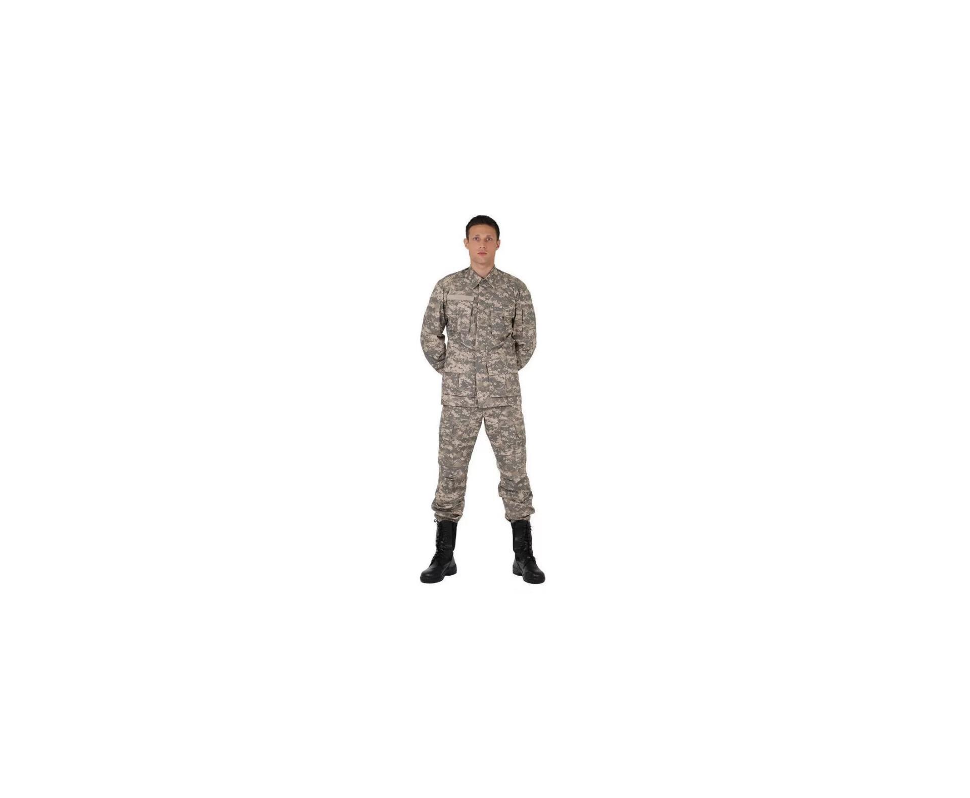 Farda Combate Ripstop Camuflado Digital Areia - Bravo