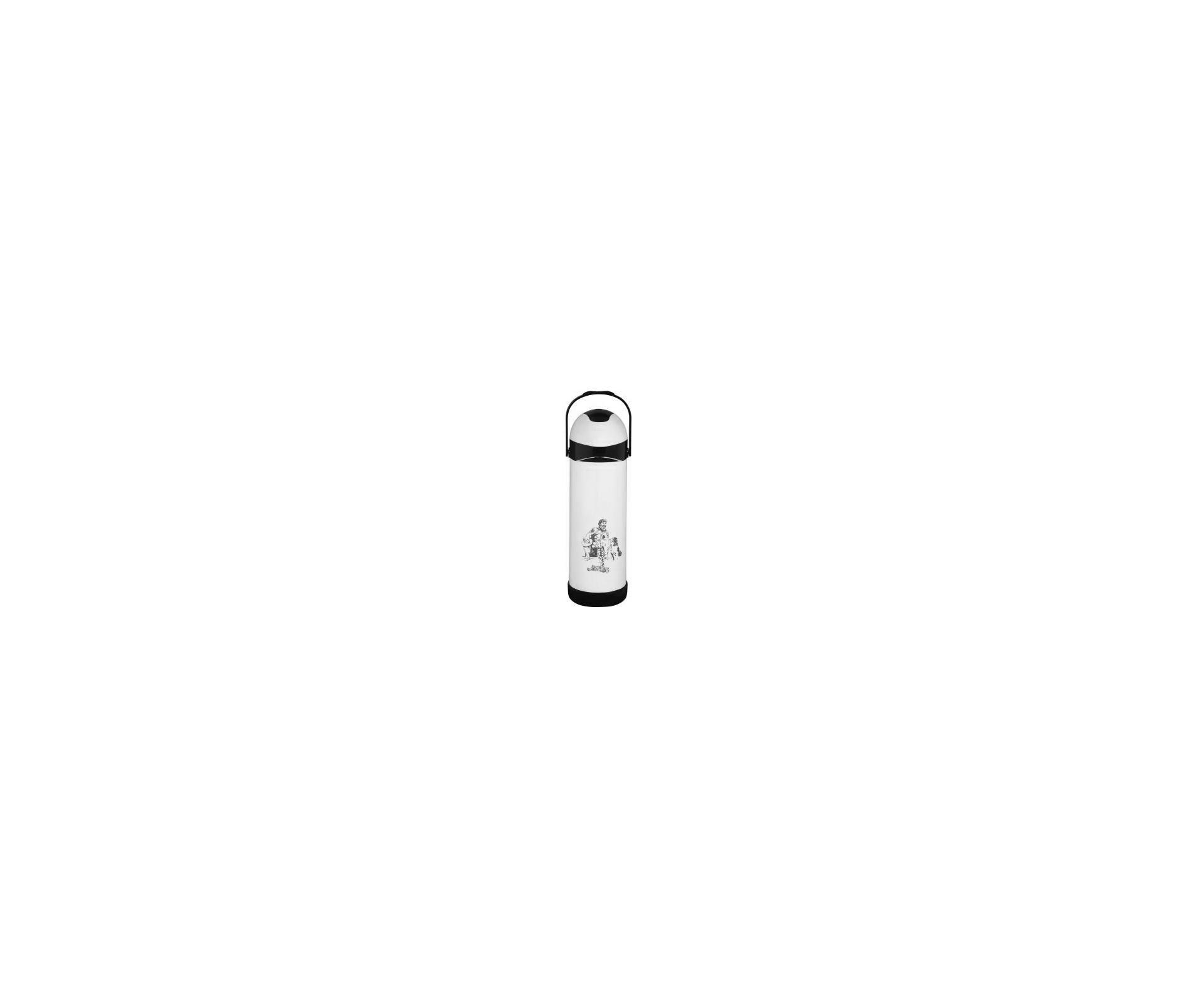 Garrafa Térmica De Pressão Farroupilha 1,0 Litro Branca - Mor