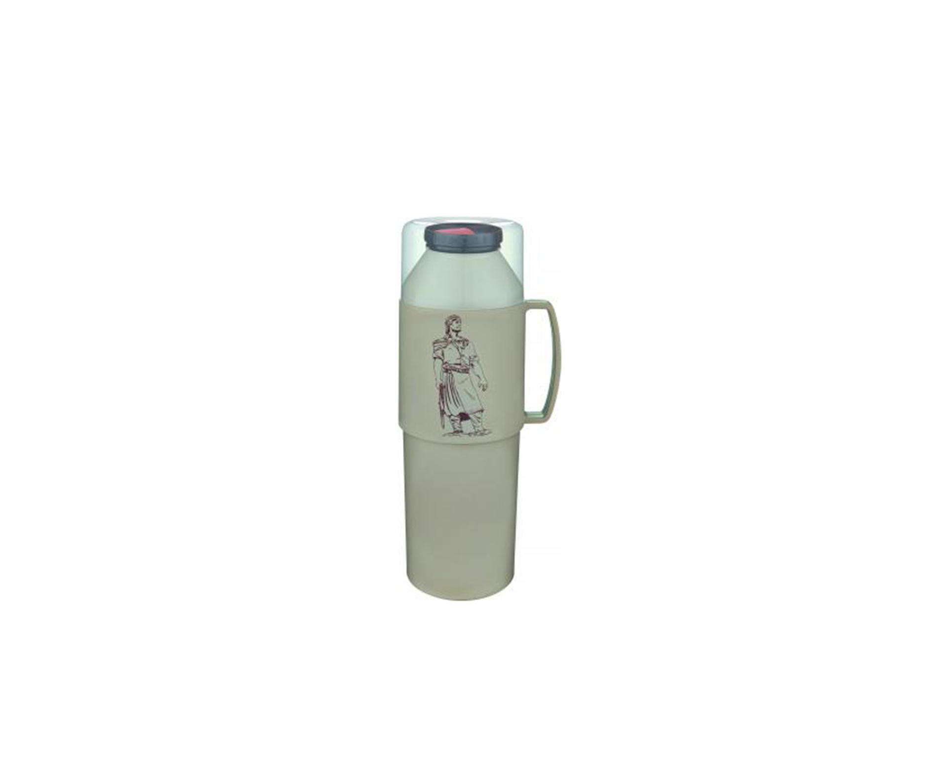 Garrafa Térmica Farroupilha 1,0 Litro Bege - Mor