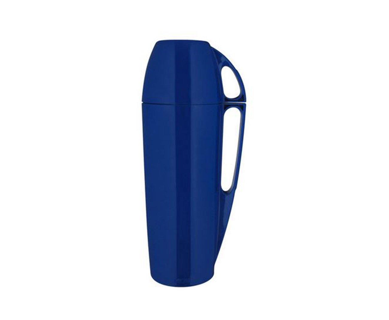 Garrafa Térmica Eleganza 1,0 Litro Azul Ref. 25100701 - Mor