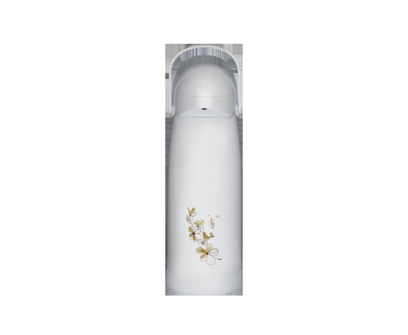Garrafa Térmica De Pressão Nobile 1,9 Decorada Branca - Mor