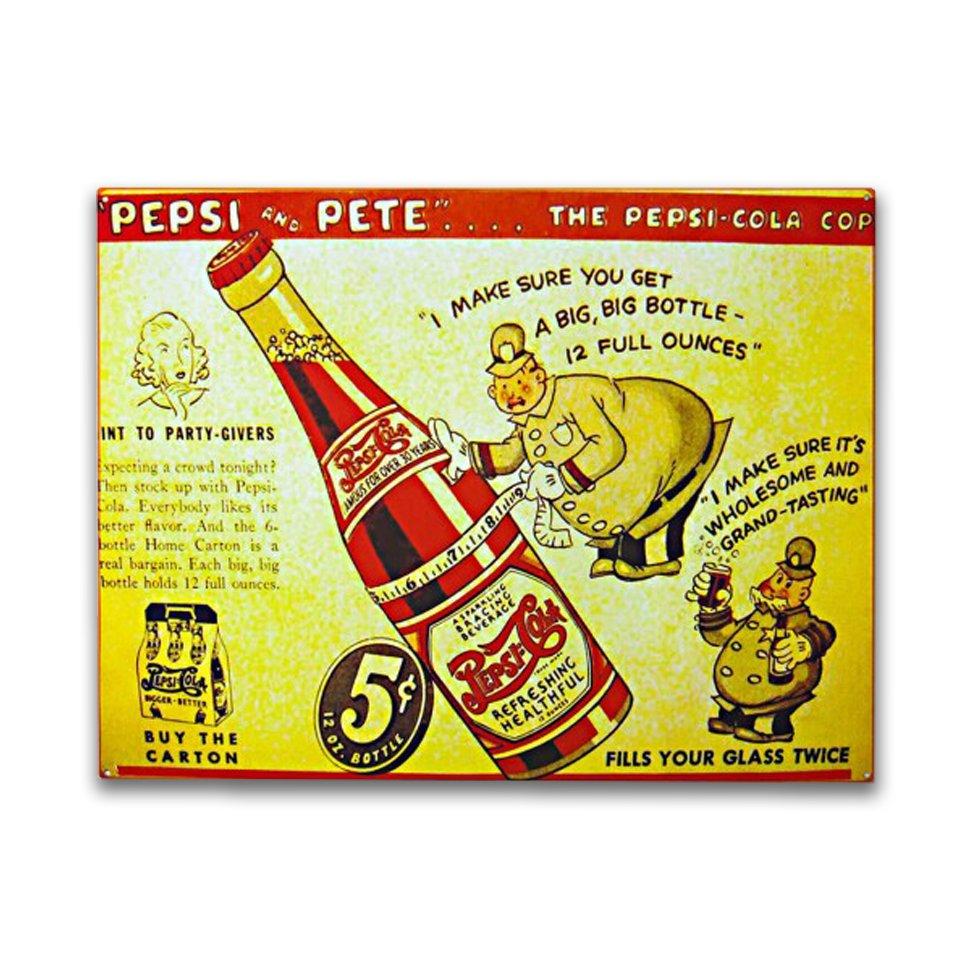 Placa Decorativa - Pepsi-cola - 30x39 Cm - All Classics