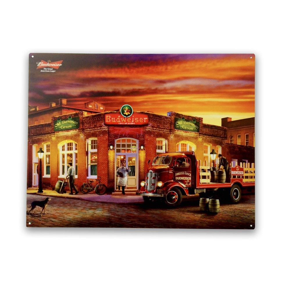 Placa Decorativa - Bar Budweiser - 30x39 Cm - All Classics