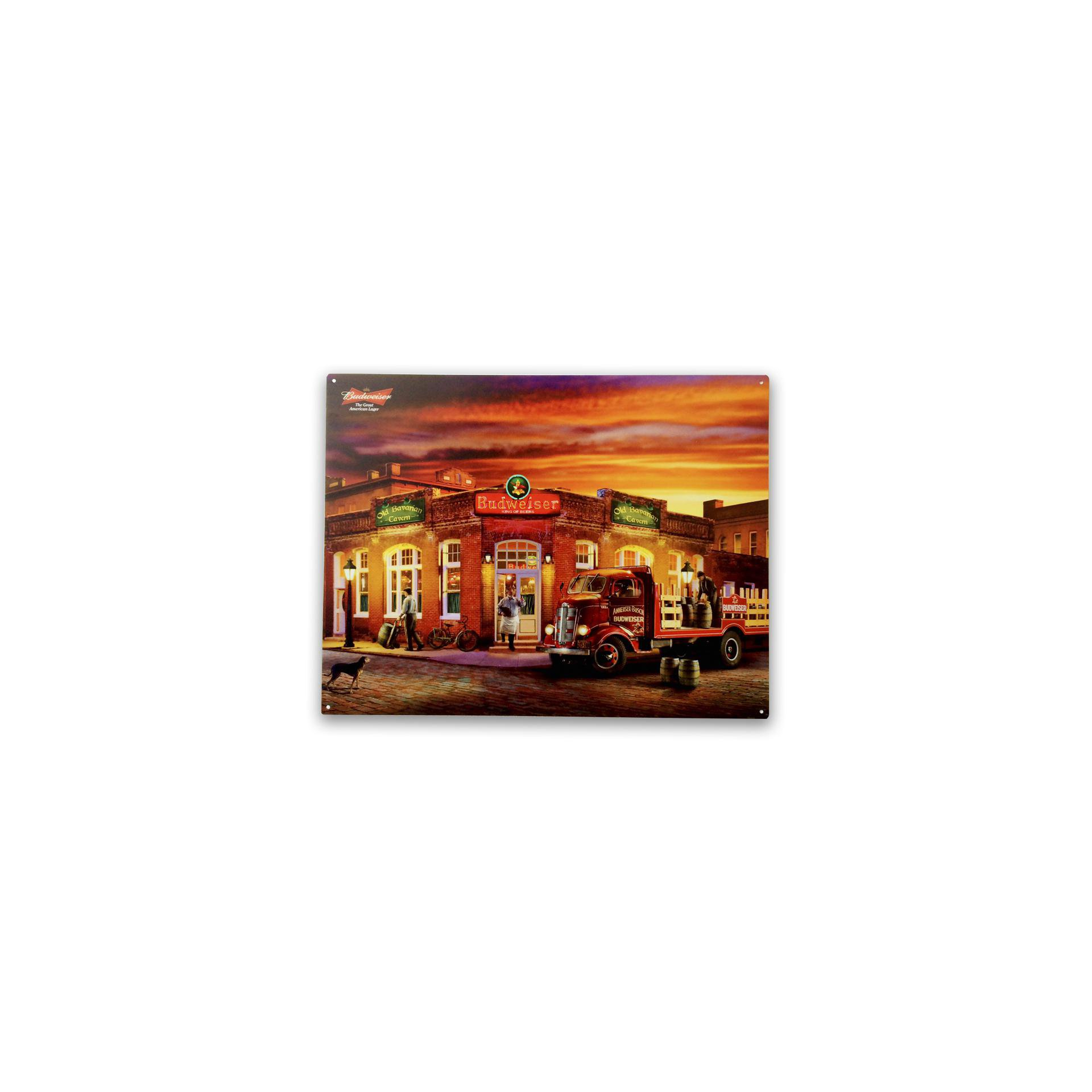 Placa Decorativa - Bar Budweiser - 30x39 Cm - All Classics