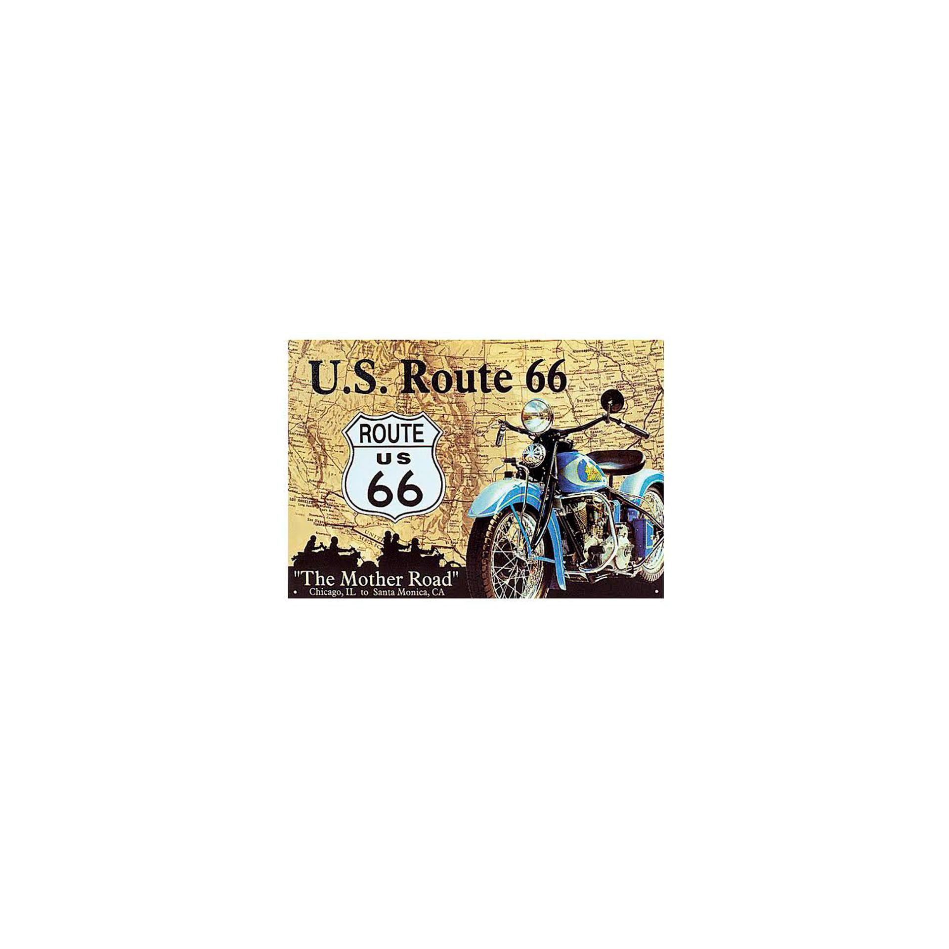 Placa Decorativa - Route 66 - 30x39cm - All Classics
