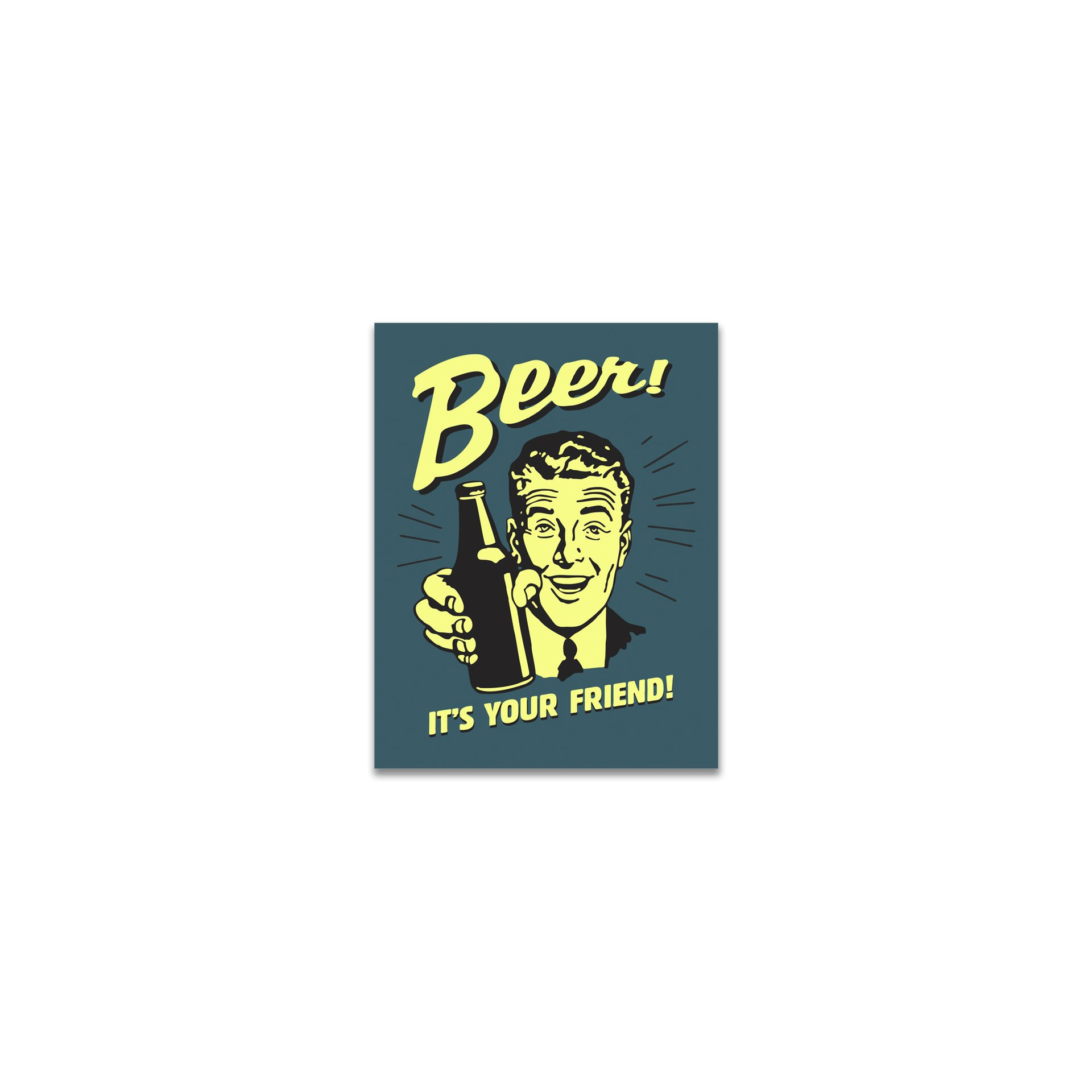 Placa Decorativa - Beer Friends - 39x30 Cm - All Classics