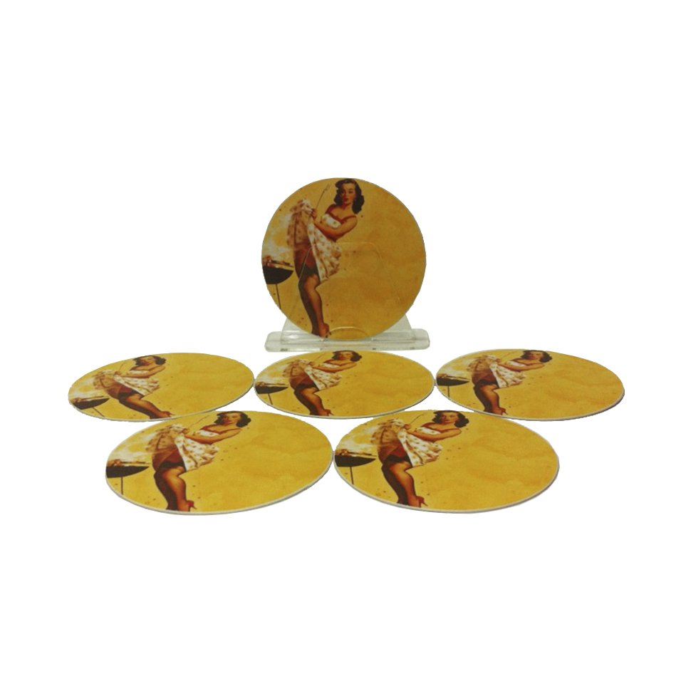 Porta Copos De Plástico - Pin-up Churrasco - All Classics