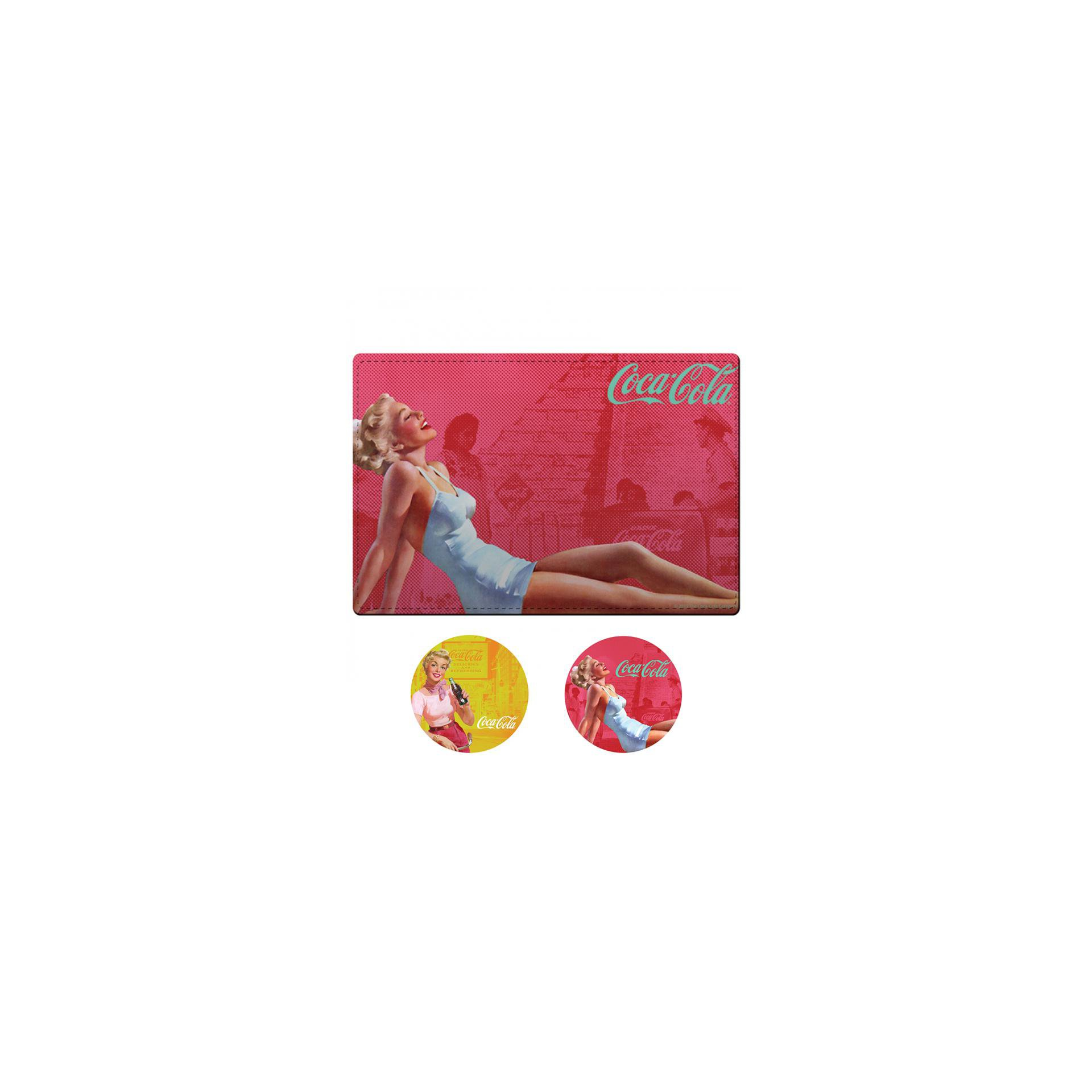 Kit Jogo Americano E Porta Copos Pin Up Blond Lady - Coca-cola