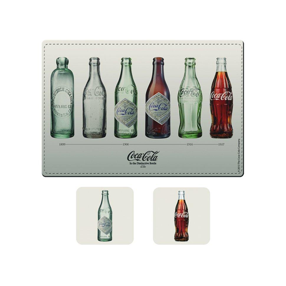 Kit Jogo Americano E Porta Copos Bottles - Coca-cola