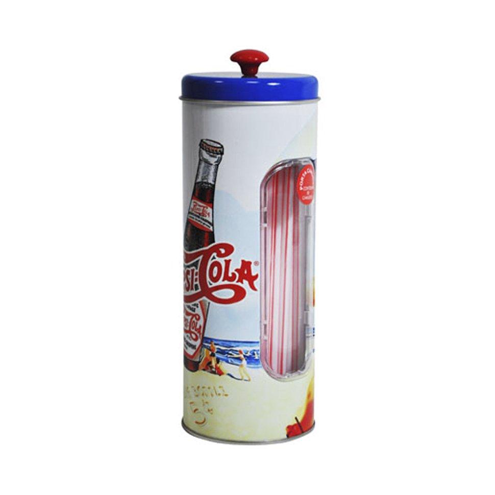 Porta Canudos De Metal - Pin Up - Pepsi-cola