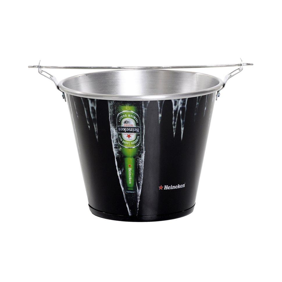 Balde De Alumínio Para Gelo - Heineken Preto