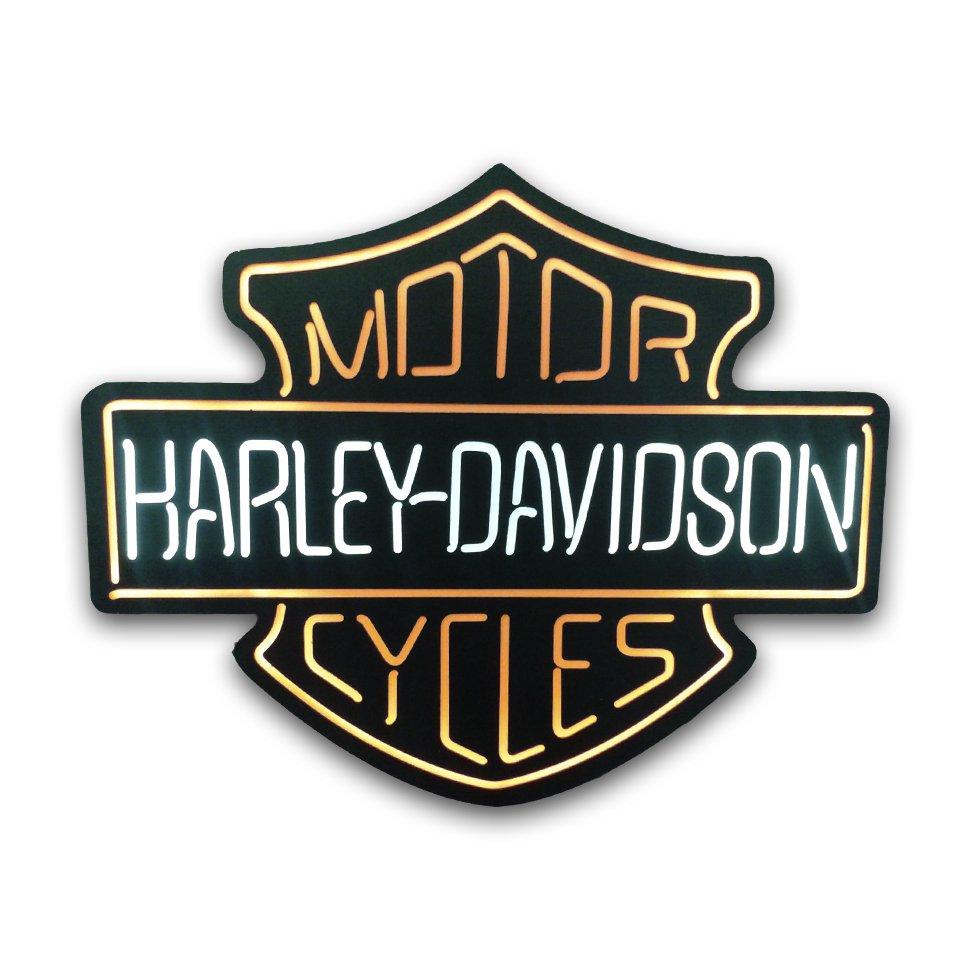 Luminoso Decorativo - Harley Davidson - Mdf