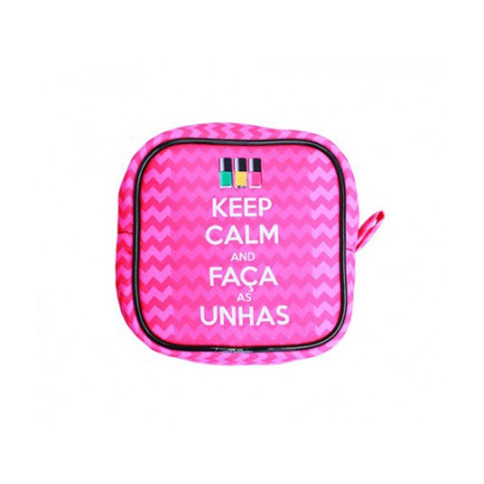 Necessaire Keep Calm E Faça As Unhas - Kathavento
