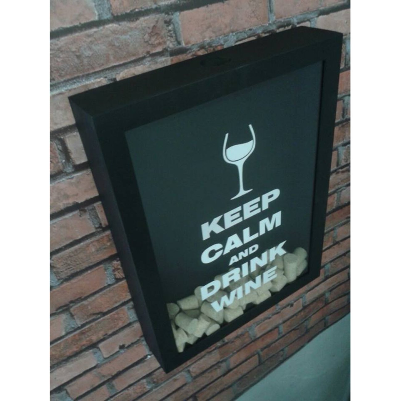 Quadro Porta Tampas Drink Wine Grande/largo - Bar Light