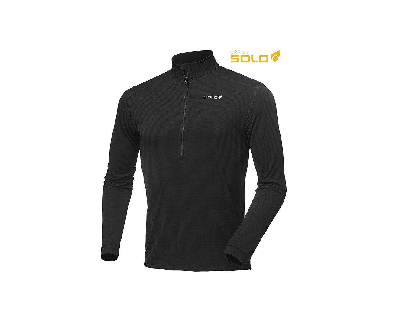Blusa X-sensor Zip - Preta - Solo