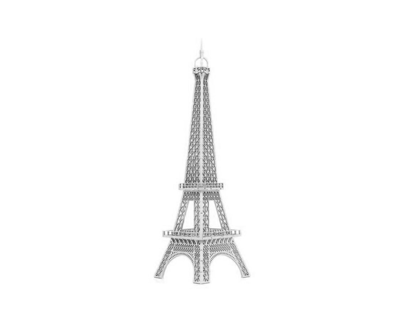 Mini Torre Eiffel Mod 01 - P - Prata - Geton