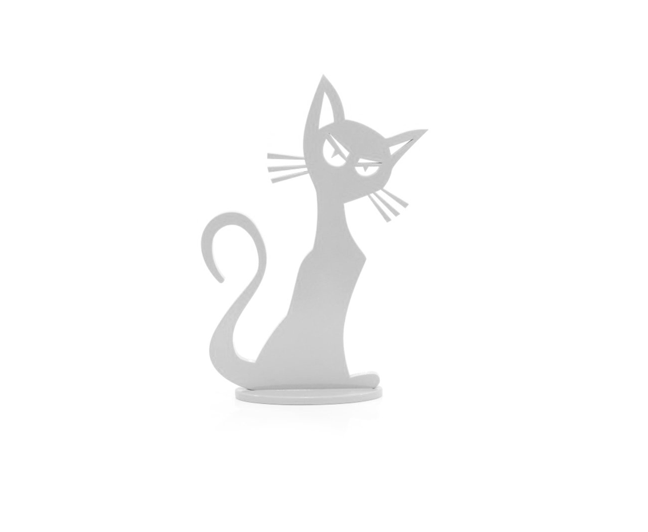 Adorno Gato Mod 02 Branco - Geton
