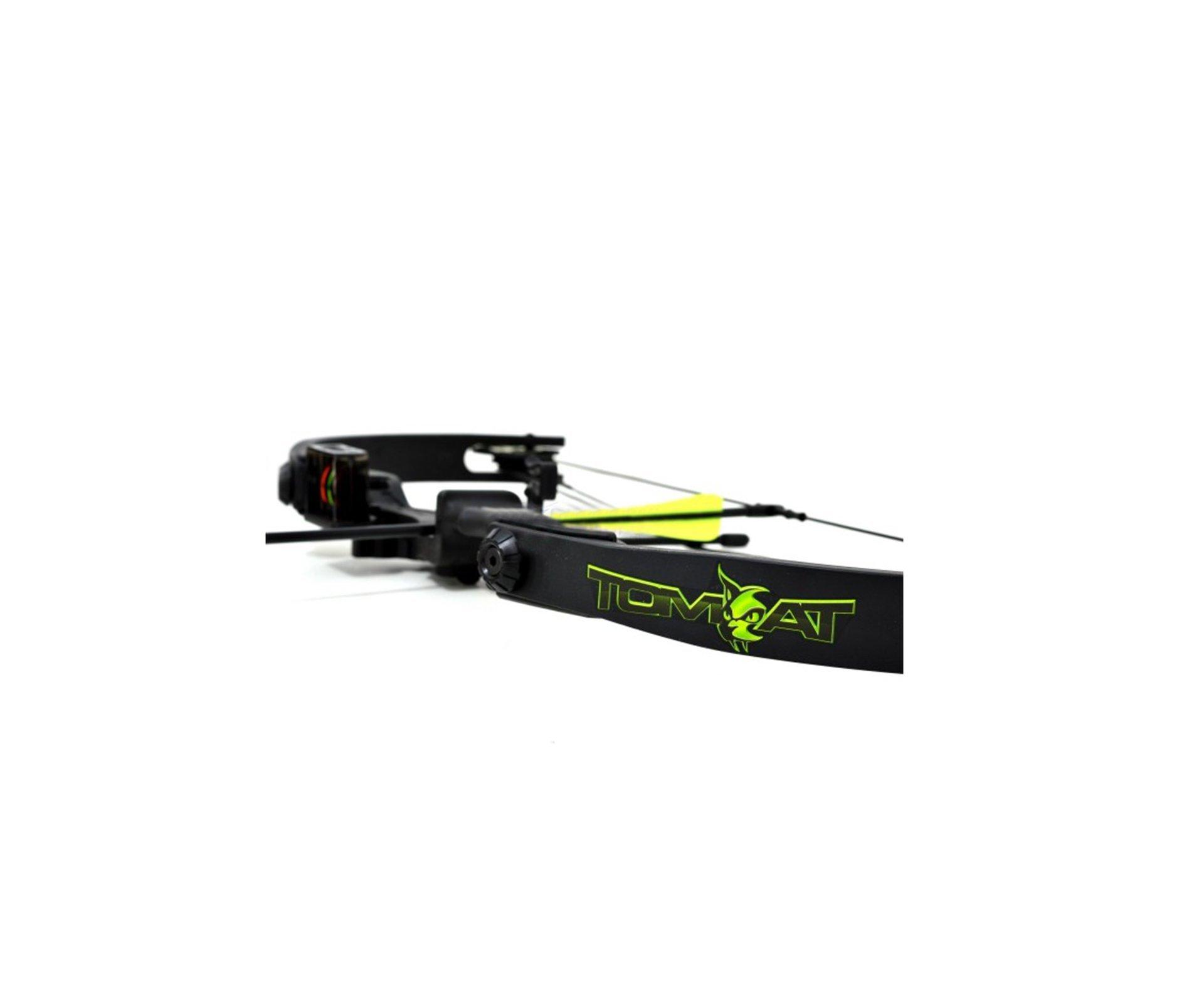 """Arco Composto Tom Cat 20-22 Lbs - C/ 2 Flechas 20"""" - Verde  - Barnett"""