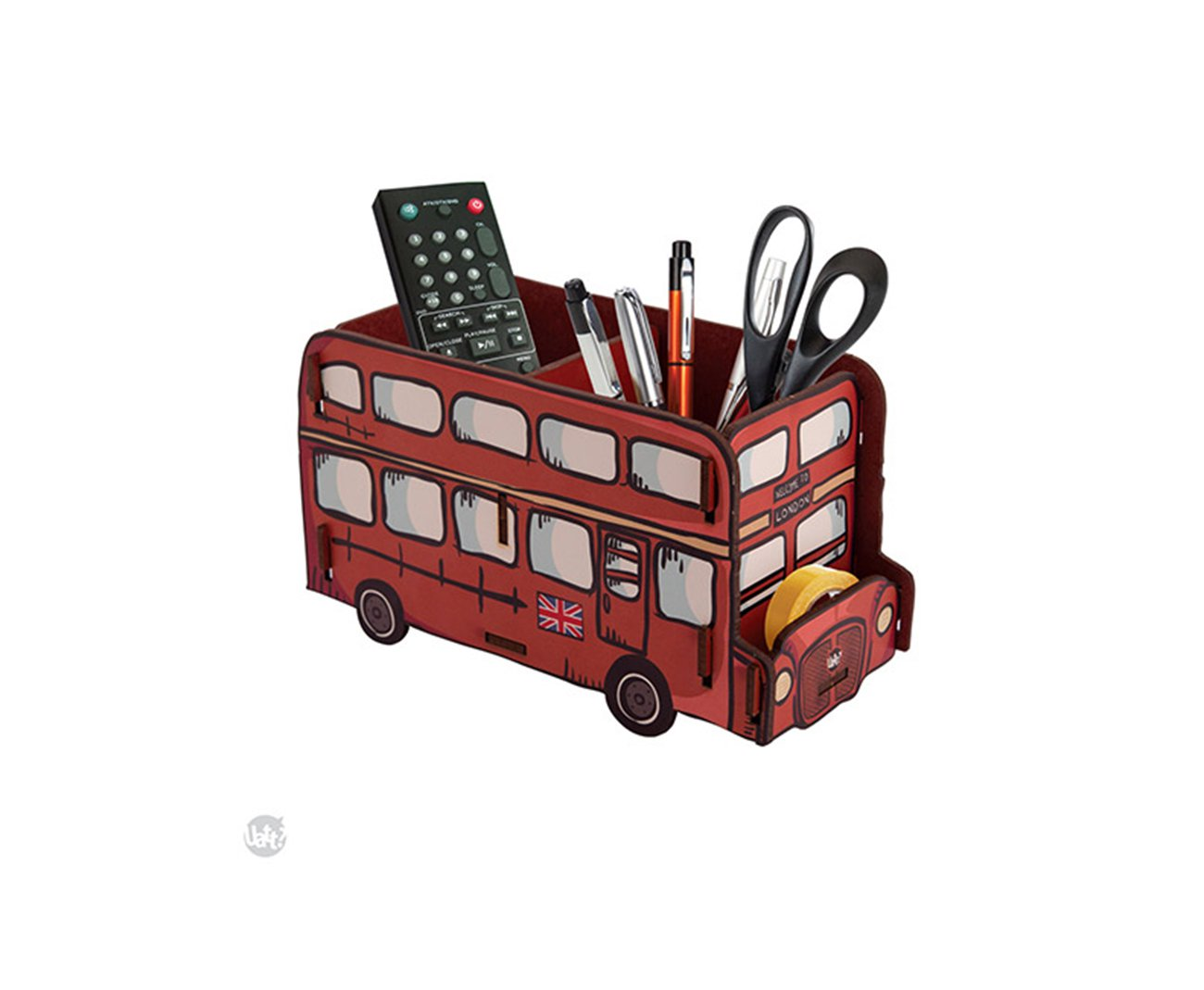 Porta Objetos Madeira - Onibus London - Uatt