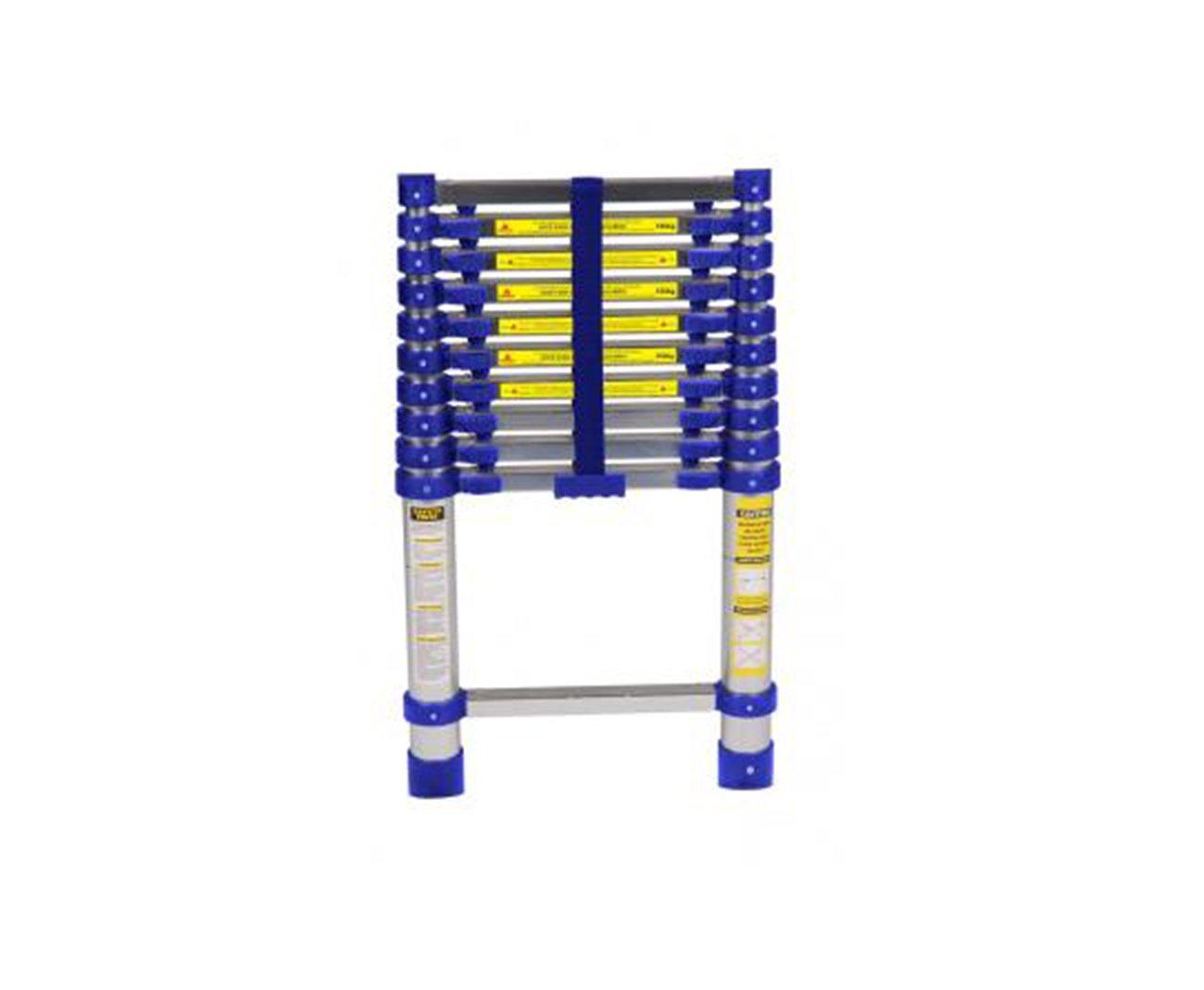 Escada Telescopica Em Aluminio 10 Degraus - 3,12m Altura - Mor
